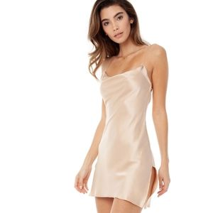 Are You Am I Nique Mini Dress in Fawn
